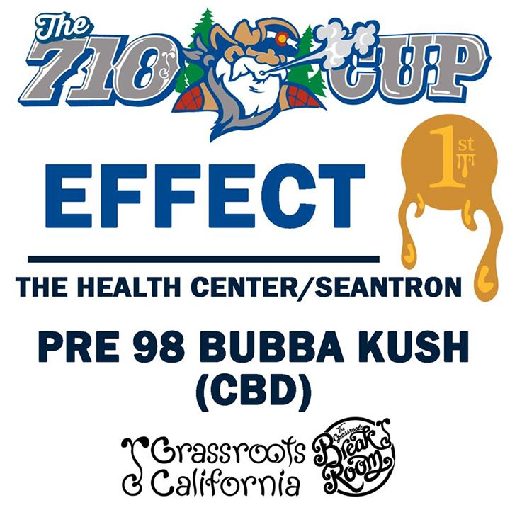 Pre98 Bubba Kush 1st Place Effect Award
